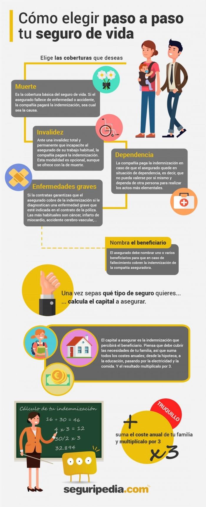 Infografía para elegir el seguro de vida